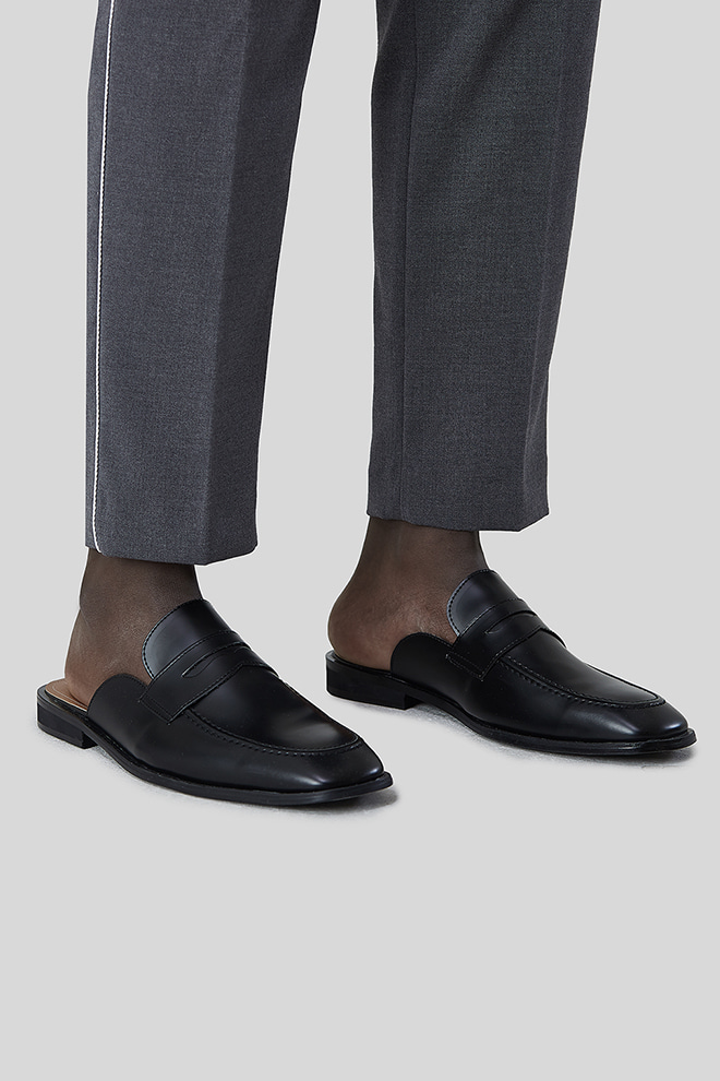 Low Heel Loafer Mules