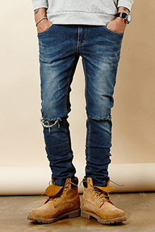 KNEE THIS BLUE JEANS 무릎 디스 진 [one color / 3size]