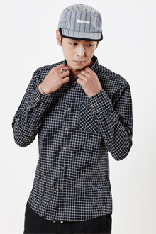 SQUARE CHECK SHIRTS 사각 체크셔츠 [2color / 4size]