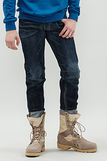 LUFFY ROLL UP DENIM PANTS 롤업 워싱 데님팬츠 [one color / 3size]