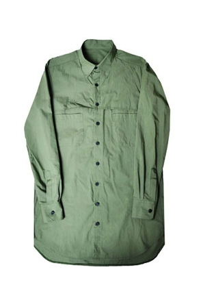 킬러비khaki mesh long shirt