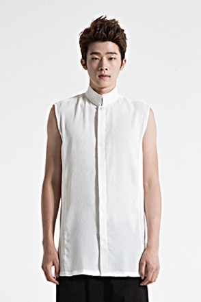 IRONY PORN(O)VOYEUR LABELStitch Line Detail Sleeveless Shirt (W)
