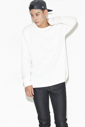 EMBO ROUND LONG SLEEVE엠보 라운드 기본 긴팔티[2color / one size]