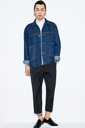 PINTUCK DENIM JACKET핀턱 데님 자켓[one color / one size]