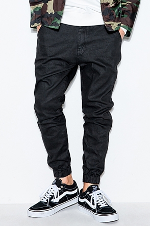 COATING BLACK JOGGER PANTS코팅 블랙 조거 팬츠[one color / 2size]