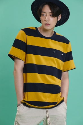 BIG STRIPE WASHING TEE 왕 단가라 워싱티 [3color / one size]