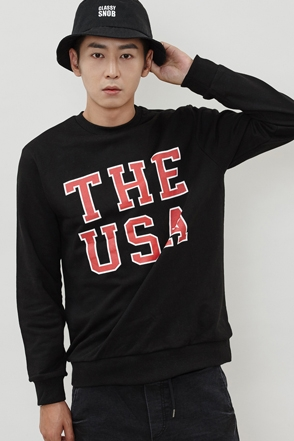 THE USA MTM 나염 프린트 맨투맨 [3color / one size]