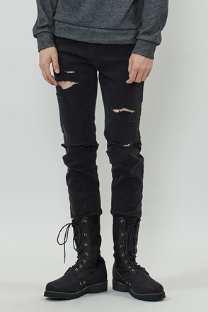 LONG DIS BLACK PANTS 롱 디스 블랙 팬츠 [one color / 4size]
