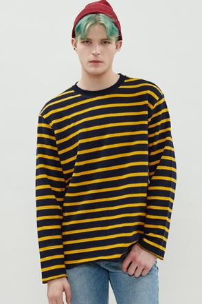 TERRY STRIPE KNIT 테리 단가라 니트 [2color / one size]