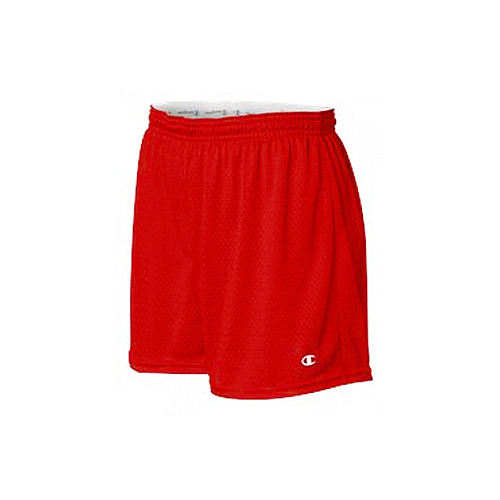 Champion/챔피언 CA33 Ladies Tagless Active Mesh Short (Red)