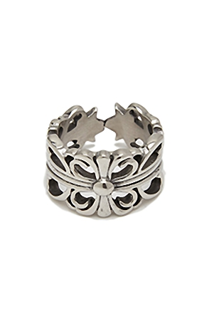 CHROME FLOWER RING 크롬 플라워 반지 [one color / one size]