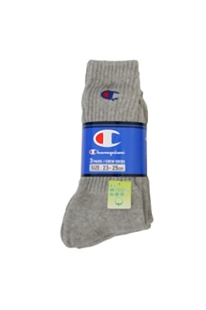 Champion/챔피언 3 Pack Sports Socks (Grey)