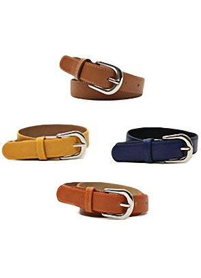 WEEKEND COLOR LEATHER BELT레더 소재로 나온 베이직한 컬러의 벨트[10color/ one size]