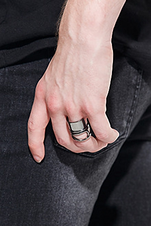 ROLL SLIMANE RING포인트 롤 반지[4color / one size]
